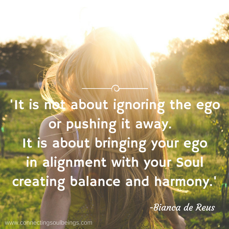 Bring your ego in alignment…