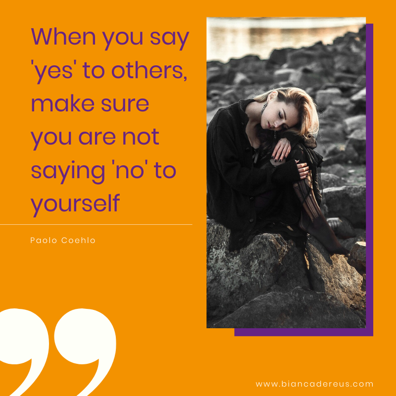 Are you saying 'NO' to yourself?